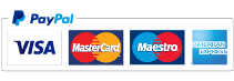 Credit cards, debit cards and Paypal accepted